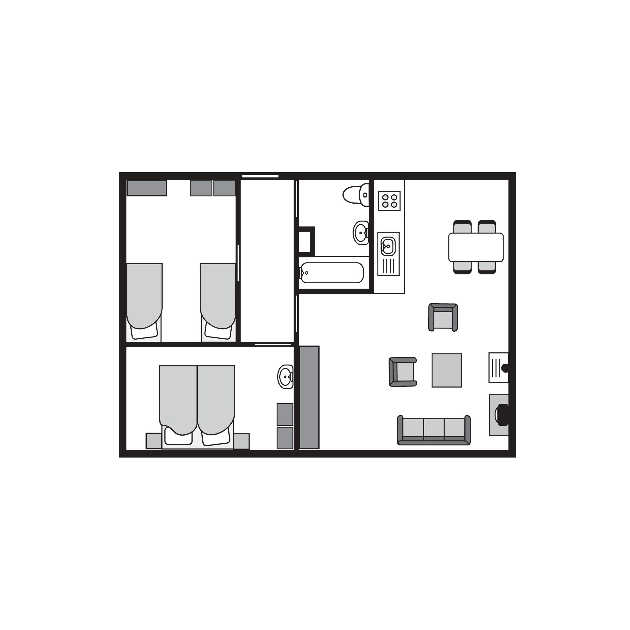 Ferienhaus Komfort 4-Personen-Ferienhaus im Ferienpark Landal Miggelenberg - in einer Hügellandschaft (355060), Hoenderloo, Veluwe, Gelderland, Niederlande, Bild 19
