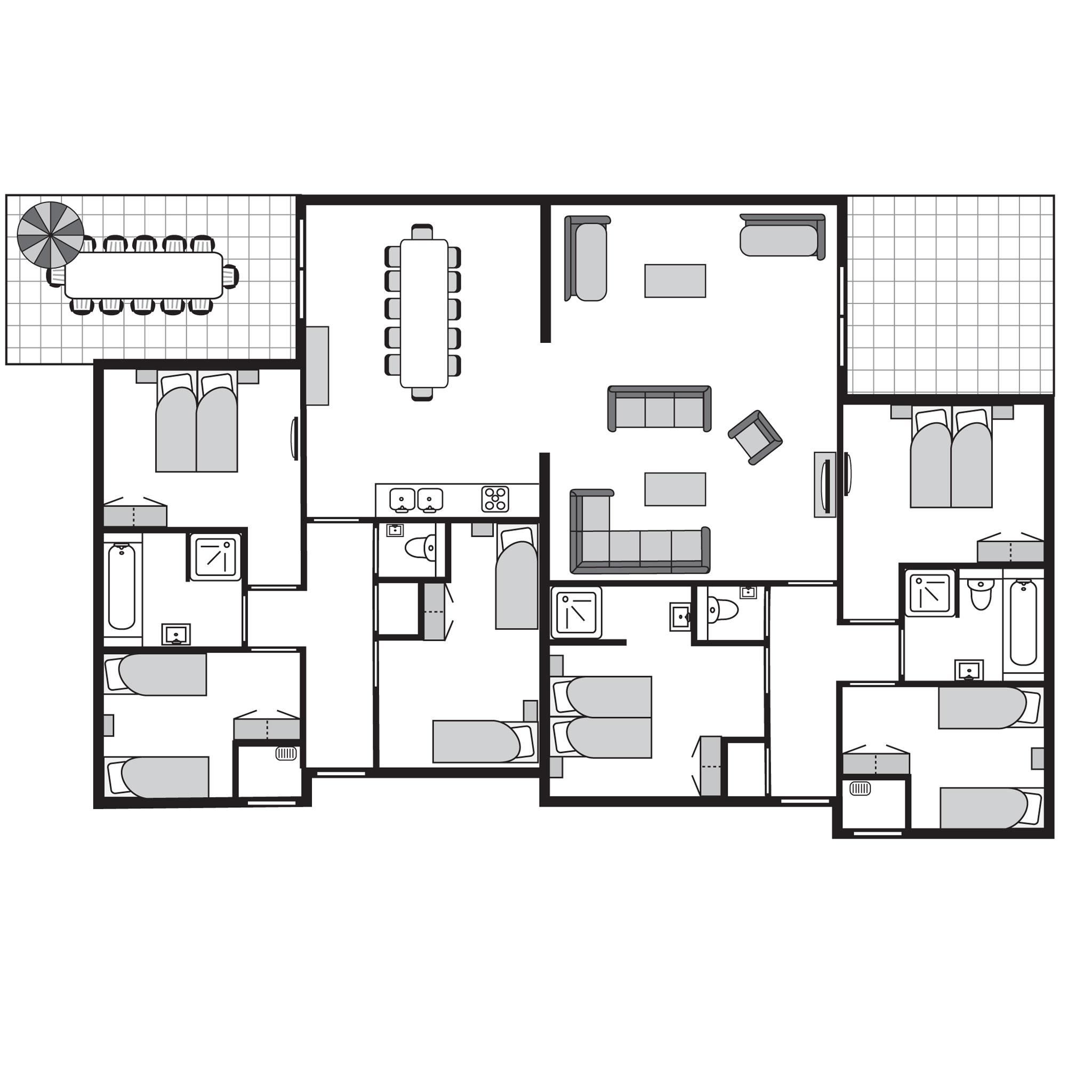 Ferienhaus Komfort 12-Personen-Unterkunft im Ferienpark Landal Amerongse Berg - im Wald/waldreicher U (764925), Overberg, , Utrecht, Niederlande, Bild 15