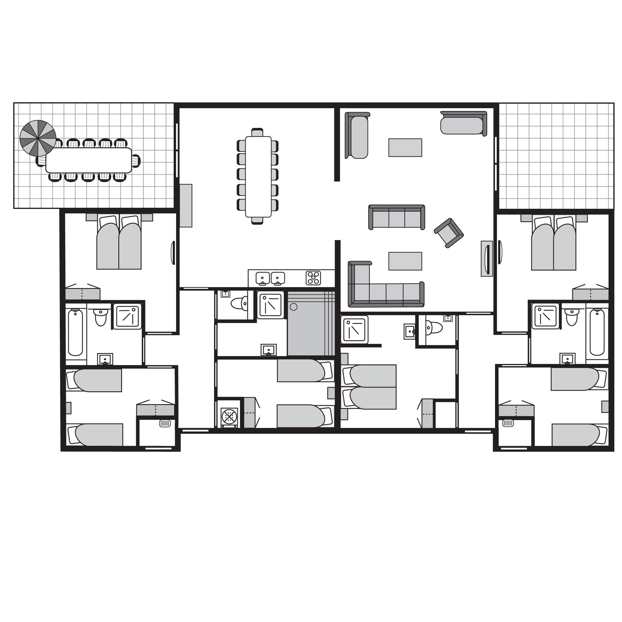 Ferienhaus Luxus 12-Personen-Unterkunft im Ferienpark Landal Amerongse Berg - im Wald/waldreicher Umg (767108), Overberg, , Utrecht, Niederlande, Bild 21