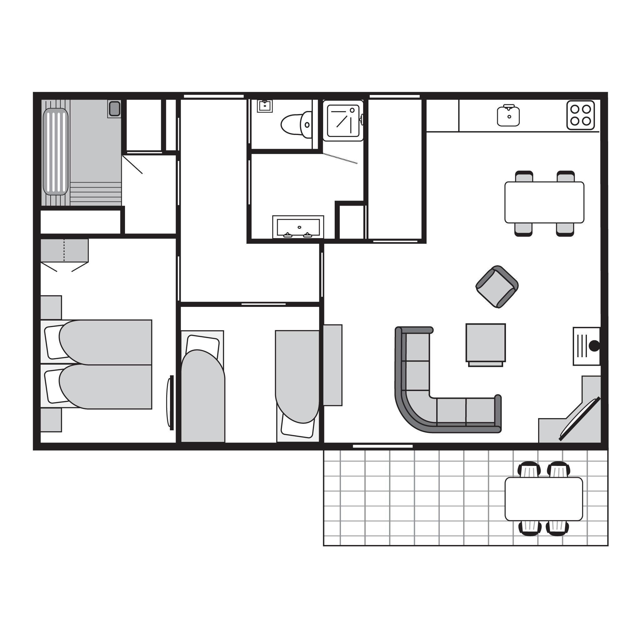 Ferienhaus Komfort 4-Personen-Ferienhaus im Ferienpark Landal Heihaas - In waldreicher Umgebung (2511641), Putten, Veluwe, Gelderland, Niederlande, Bild 19